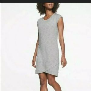 Athleta Light Gray ShortSleeve CrissCross Dress XS
